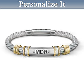 Strength For My Grandson Personalized Men's Bracelet