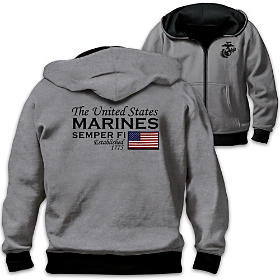 Reversible Military U.S. Marines Men's Hoodie