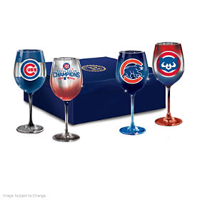 Cubs Pride Wine Glass Set