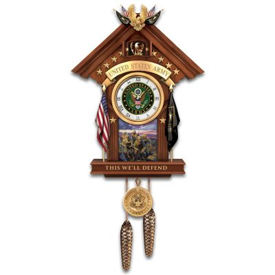 this well defend us army cuckoo clock