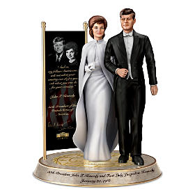 John & Jacqueline Kennedy Commemorative Tribute Sculpture