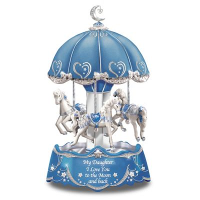 Daughter Love You To The Moon And Back Musical Carousel by