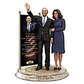 Barack And Michelle Obama Farewell Commemorative Sculpture