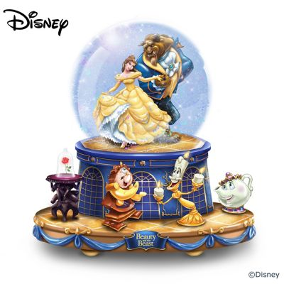 Disney Beauty And The Beast Rotating Musical Glitter Globe by
