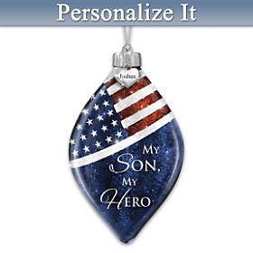 My Son, My Hero Personalized Ornament
