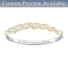 Family Blessings Personalized Diamond Bracelet