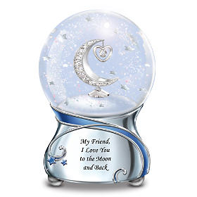 Friend, I Love You To The Moon Glitter Globe