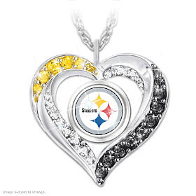 I Love My Steelers Fan Pendant Necklace