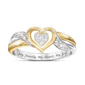 My Family, My Heart, My Joy Diamond Ring