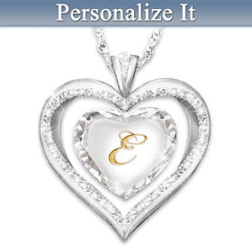 Light of My Heart Personalized Pendant Necklace