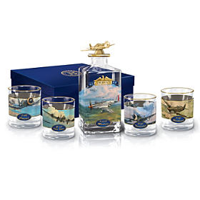America's Freedom Flyers Decanter Set
