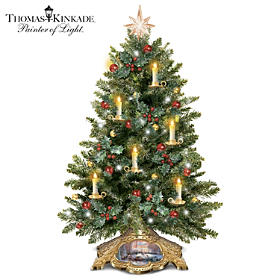 Thomas Kinkade Holiday Traditions Tabletop Tree
