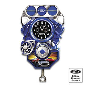 Ford Mustang Muscle Car Wall Clock