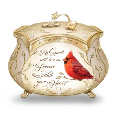 James Hautman Cardinal Heirloom Porcelain Music Box by