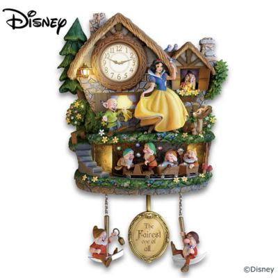 Disney Snow White Illuminated Musical Wall Clock With Motion by