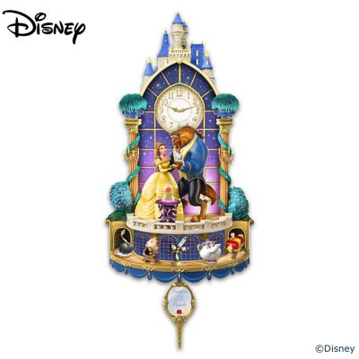 Disney Beauty And The Beast Illuminated Wall Clock by