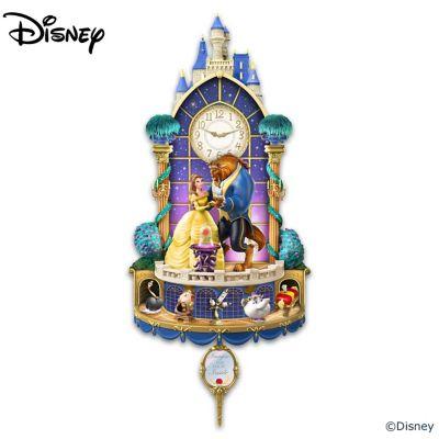 Disney Beauty And The Beast Illuminated Wall Clock by