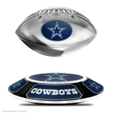 Cowboys Levitating Football Lights Up And Spins by