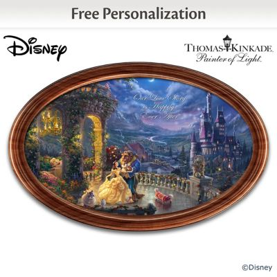 Disney Beauty And The Beast Collector Plate With 2 Names by