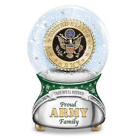 Proud Army Family Glitter Globe