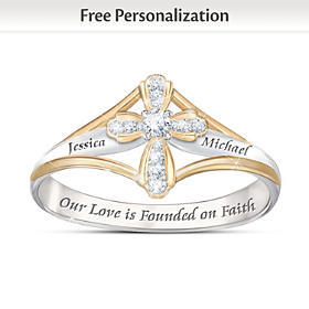 Faith In Our Love Personalized Diamond Ring
