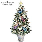 Thomas Kinkade Angelic Blessings Tabletop Tree