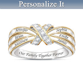 A Family's Love Personalized Diamond Ring