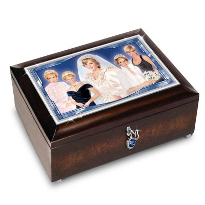 Princess diana illuminated heirloom music box for Princess diana jewelry box