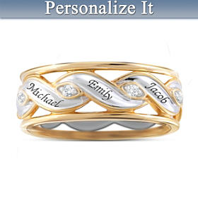 Family Is Love Personalized Ring