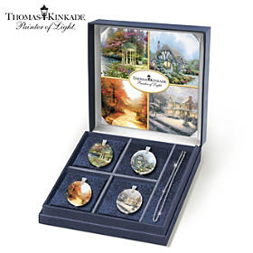 Thomas Kinkade Radiance Of The Season Pendant Necklace Set