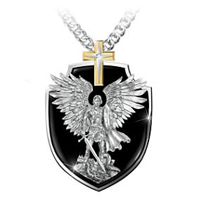 Strength Of St. Michael Pendant Necklace