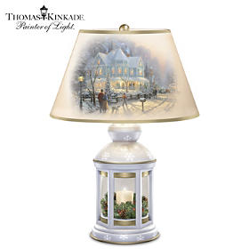 Thomas Kinkade A Holiday Gathering Lantern Lamp