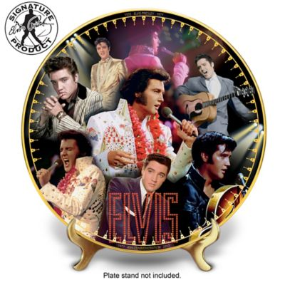 Elvis Presley 40th Anniversary Porcelain Collector Plate by