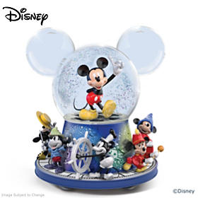 Disney Mickey Mouse 90th Anniversary Glitter Globe