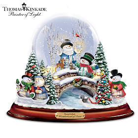 Thomas Kinkade Wonderland Of Snow Snowglobe