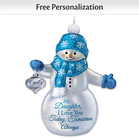 Snow-Kissed Wishes Personalized Ornament
