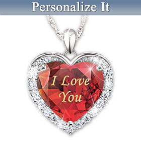 Love Is Written On My Heart Personalized Pendant Necklace