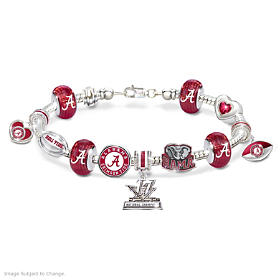 Crimson Tide 2017 Football National Champions Charm Bracelet