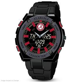 It's Crimson Tide Time! Ani-Digi Men's Watch