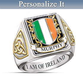 I Am Of Ireland Personalized Ring