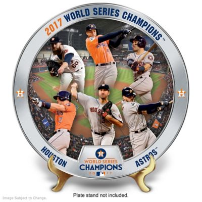 Houston Astros 2017 World Series Commemorative Plate by