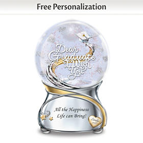 Graduate, I Wish You Personalized Glitter Globe