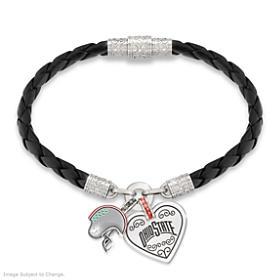 Buckeyes Fan At Heart Bracelet