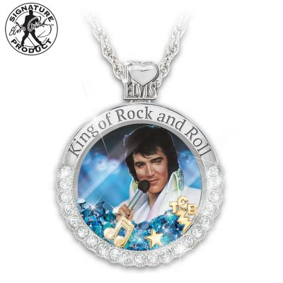 Elvis Presley 18 Necklace ...And His Hair Was Perfect.. Real Photo 1 Charm Pendant Handmade Unique King of Rock N Roll Band Jewelry