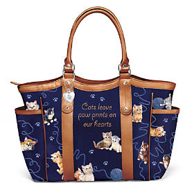 Smitten With Kittens Tote Bag