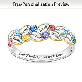 Our Family Of Joy Personalized Ring