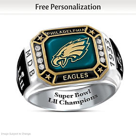 Philadelphia Eagles Super Bowl LII Personalized Fan Ring