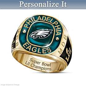 Eagles Super Bowl LII Champions Personalized Ring