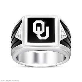 Oklahoma Sooners Ultimate Fan Diamond Ring