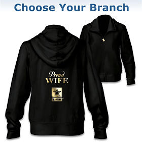Military Pride Personalized Women's Hoodie